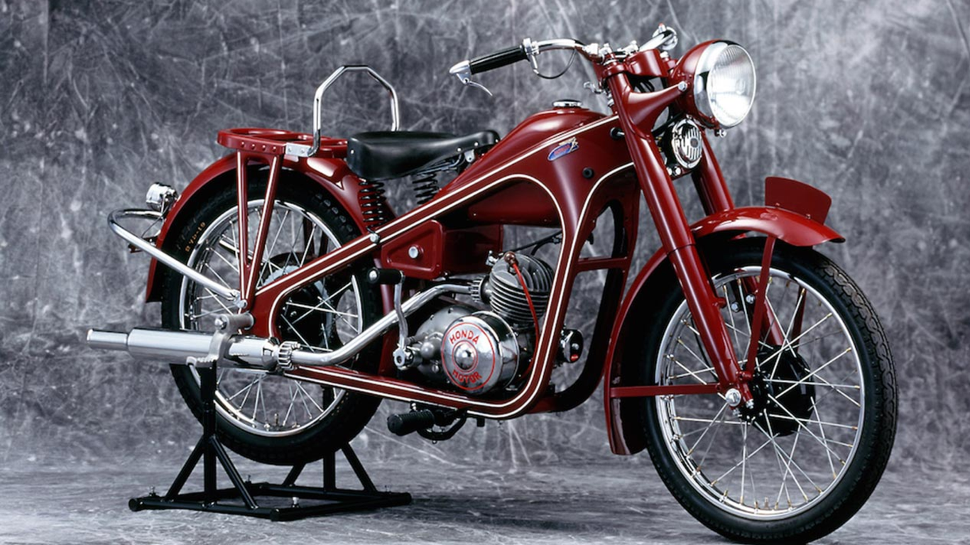 The first Honda motorcycle