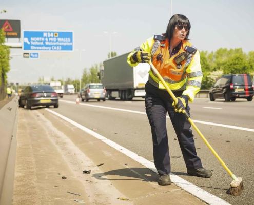 Highways England patrol officer