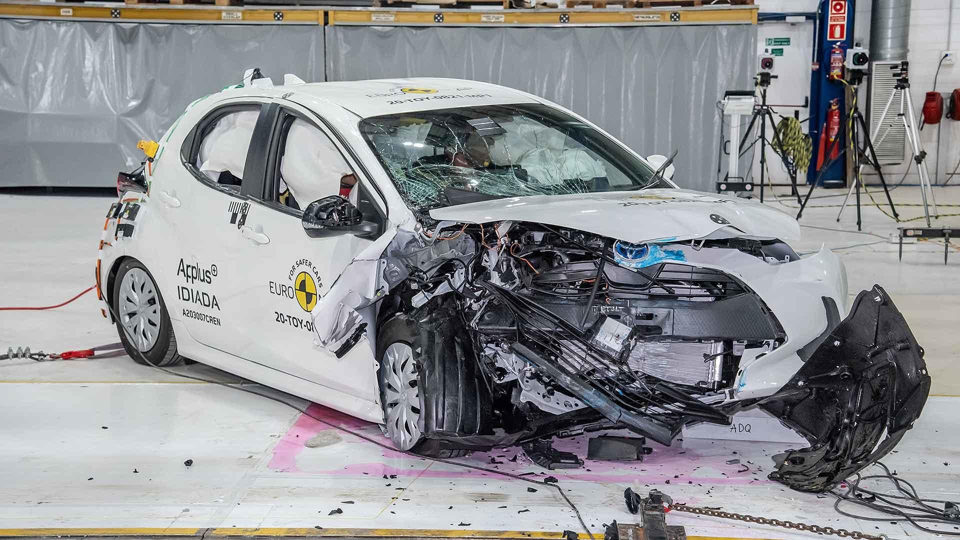2020 Toyota Yaris Euro NCAP safety crash test