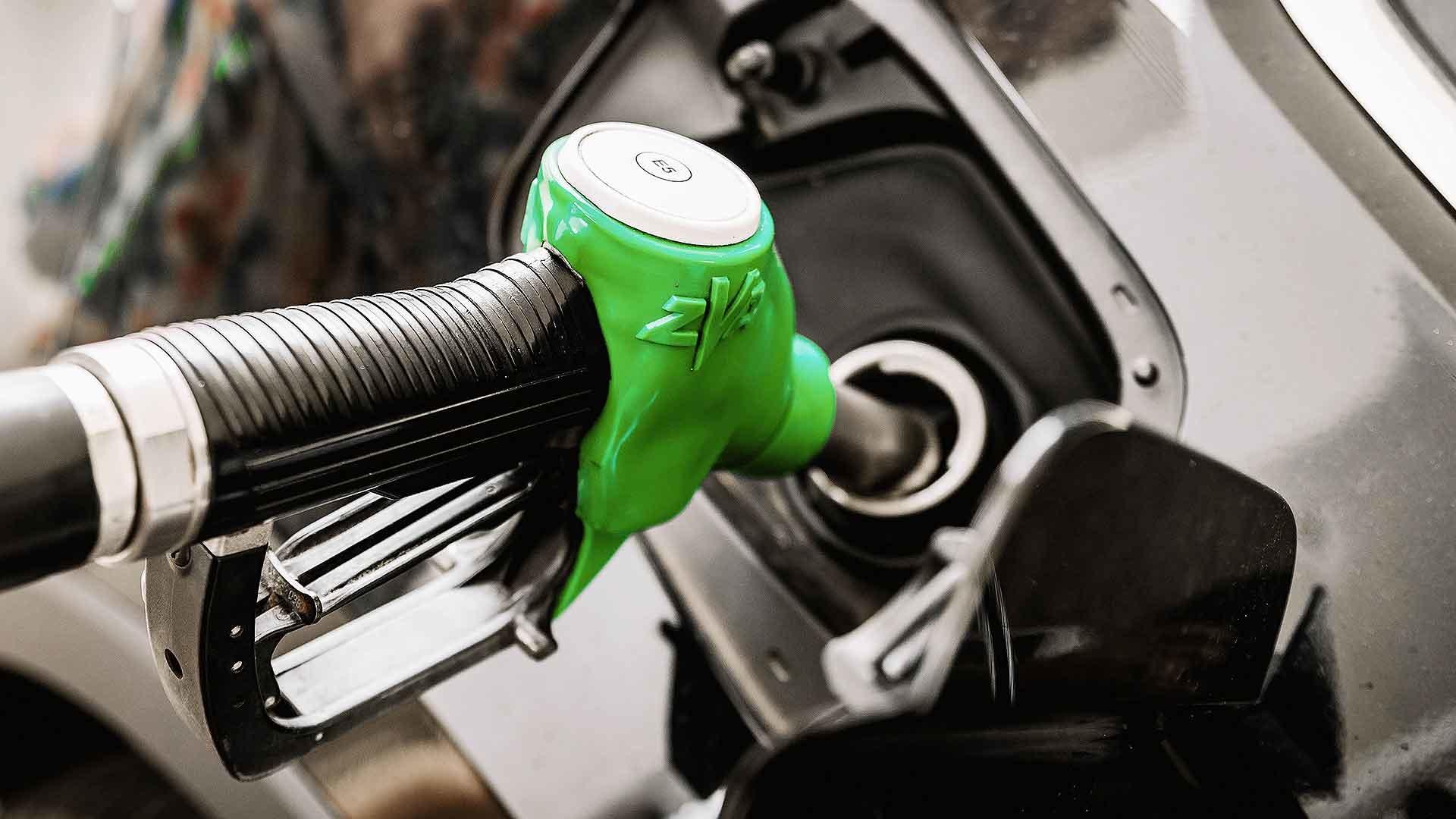Unleaded petrol pump