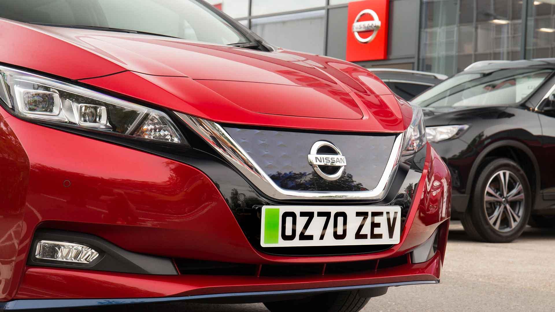 Nissan Leaf green number plates