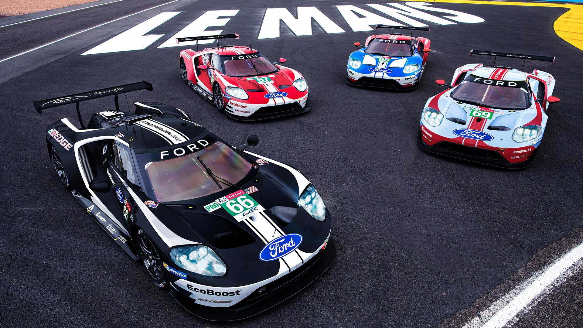 2019 Ford at Le Mans with historic liveries