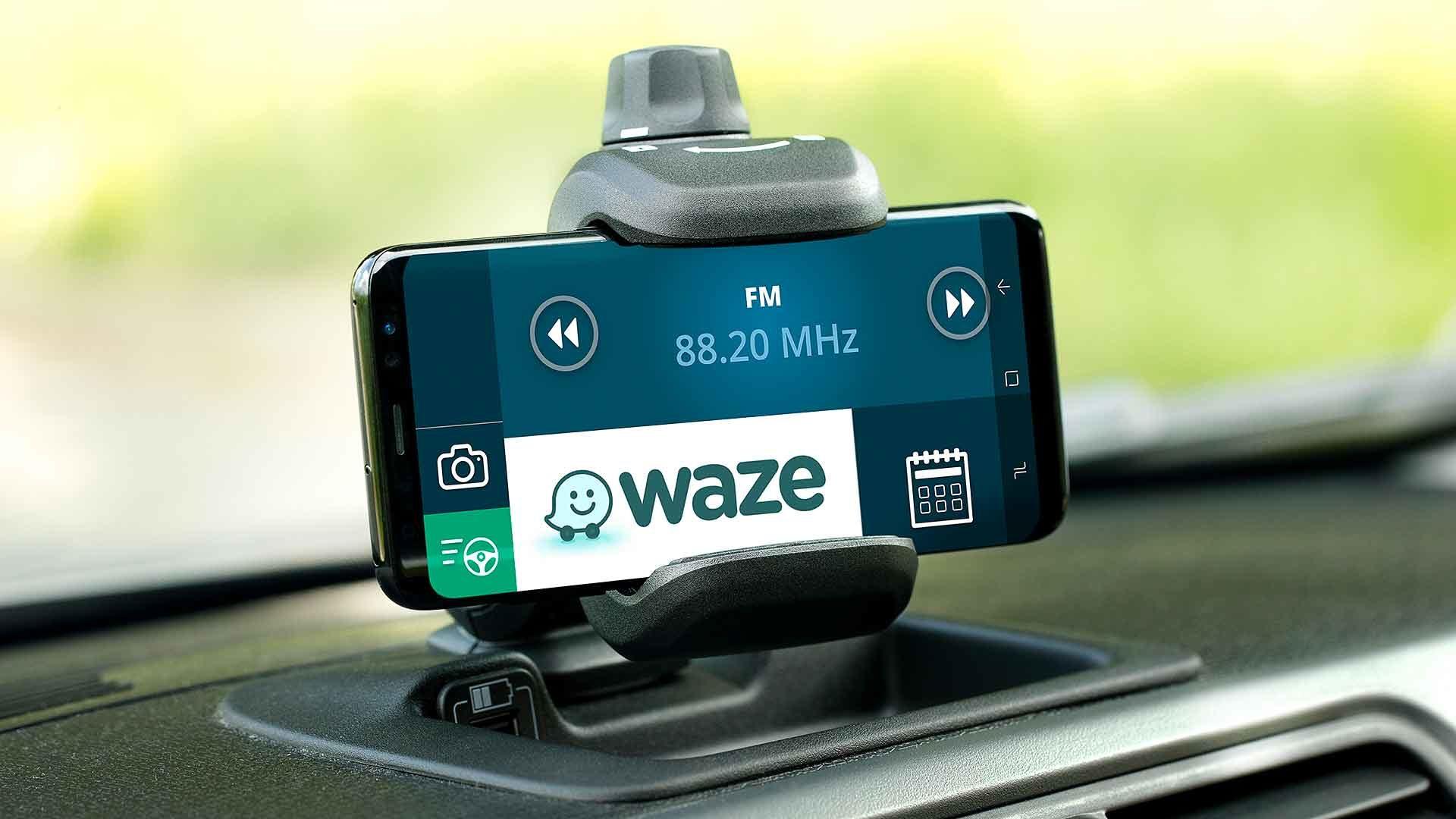 Waze app on a smartphone