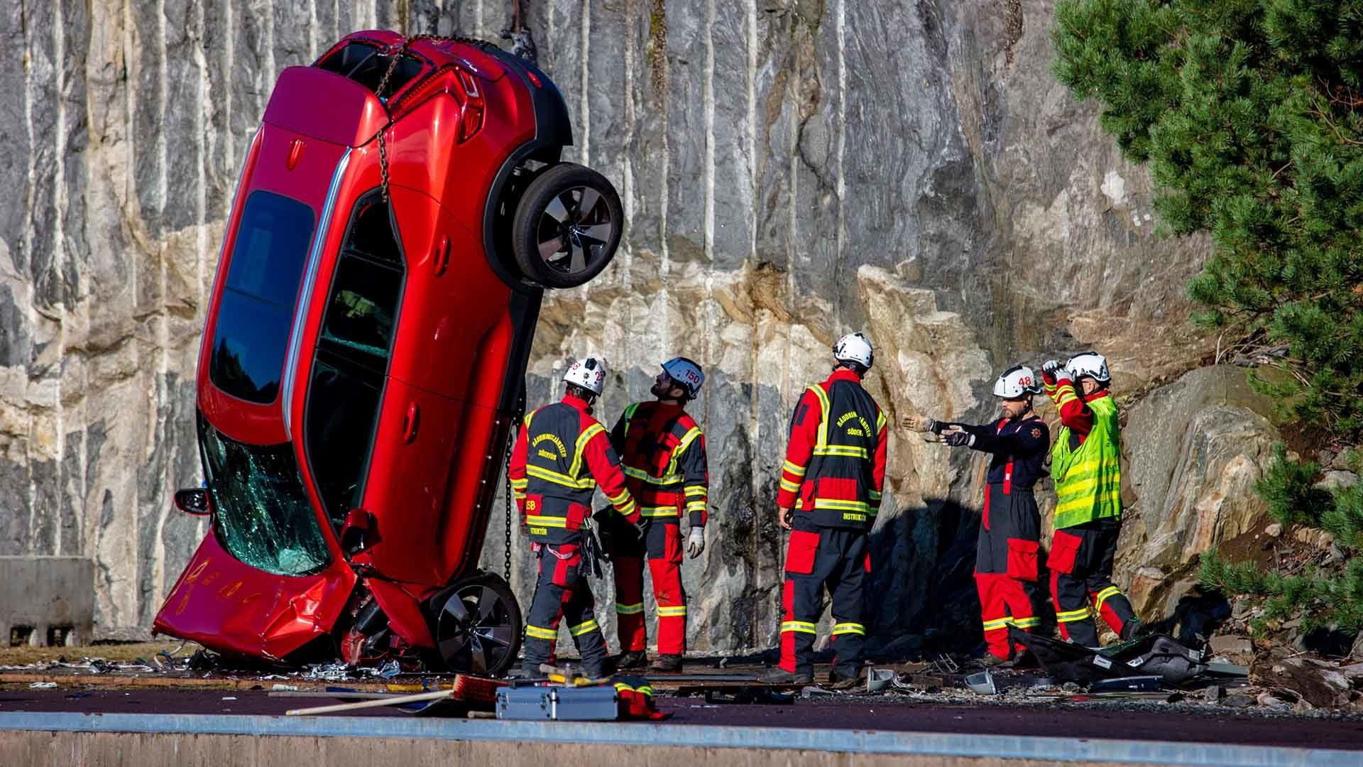 Volvo safety test