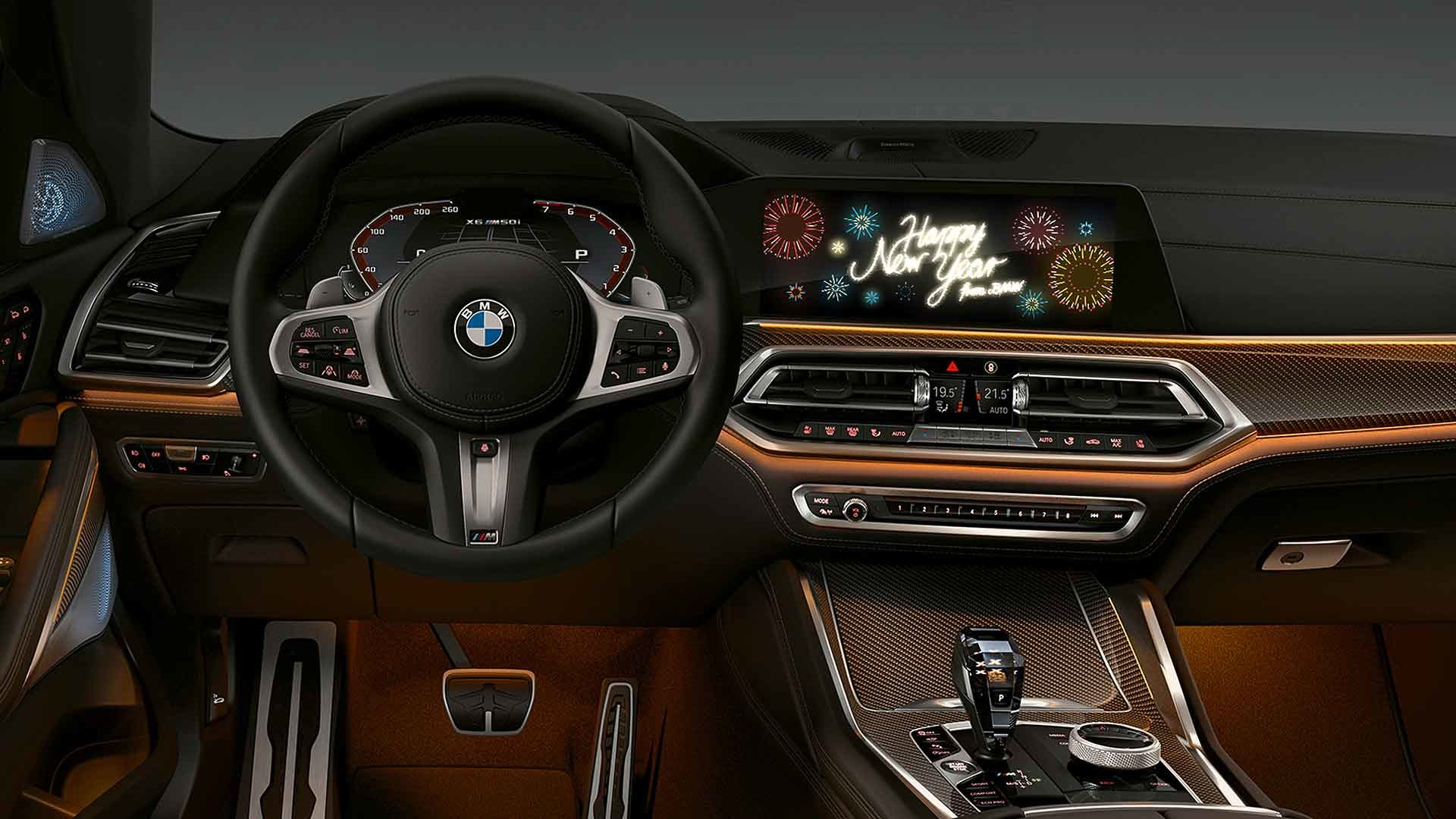 Bmw Wishes Owners An In Car Happy New Year Motoring Research
