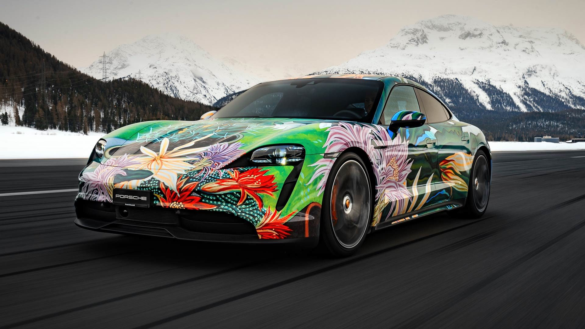 Porsche to auction electric Taycan art car for charity